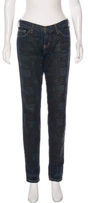 Marni Distressed Mid-Rise Jeans