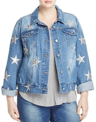 Bagatelle Plus Star Patch Denim Jacket $148 thestylecure.com