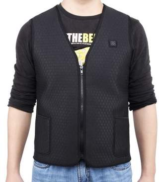 Yosoo Unisex Heated Vest, Men Women Warmer Safe Built-in Electric Plate Heating Vest(X-Large)