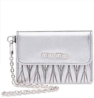 Miu Miu matelassé credit card holder