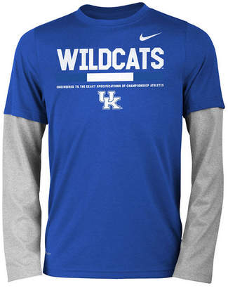 Nike Kentucky Wildcats Legend Long Sleeve Staff T-Shirt, Big Boys (8-20)
