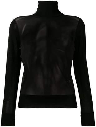 Neil Barrett sheer front sweater