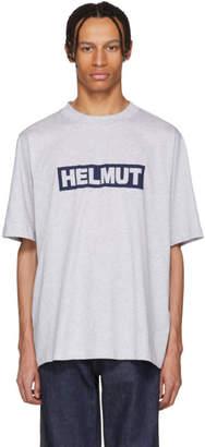 Helmut Lang Grey Tall Logo T-Shirt