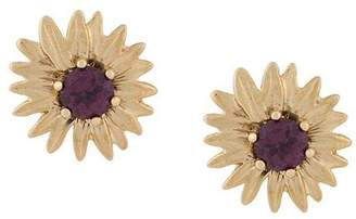 Aurelie Bidermann 18kt gold rhodolite Bouquet earrings