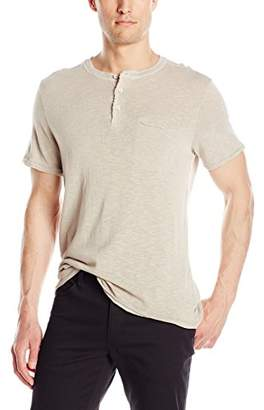 Michael Stars Men's Short Sleeve Raw Edge Henley Shirt