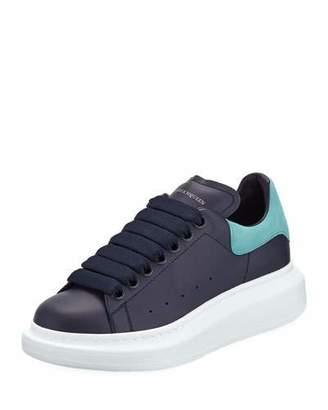 Alexander McQueen Pelle S. Gomm Calf Platform Low-Top Sneakers