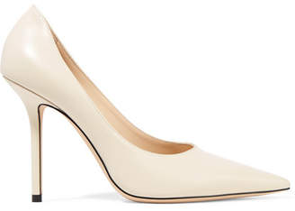 Jimmy Choo Ava 100 Leather Pumps - Cream