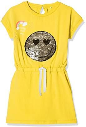 Name It Girl's Nkfhappy Elise Ss Slim Dress LIC Plain Not Applicable Dress