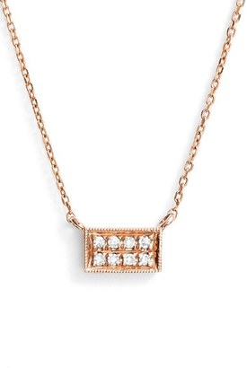 Women's Dana Rebecca Designs 'Katie' Diamond Bar Pendant Necklace $265 thestylecure.com