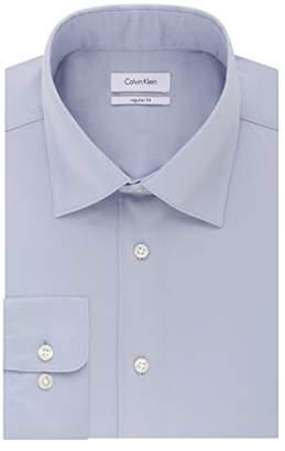 Calvin Klein Mens Dress Shirts Regular Fit Stretch Solid Spread Collar
