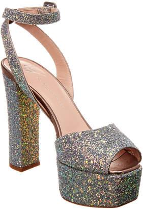 Giuseppe Zanotti Betty 120 Glitter Leather Platform Sandal
