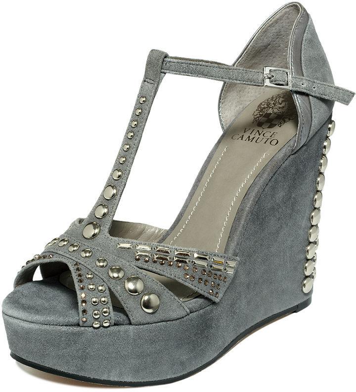 Vince Camuto Shoes, Simonas Studded Wedge Sandals