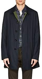 Barneys New York Men's Wool-Silk Reversible Raincoat-Navy