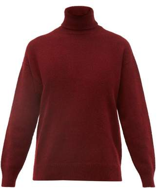 Officine Generale Alma Cashmere Roll Neck Sweater - Womens - Burgundy