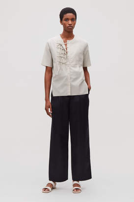 Cos FRONT TIE SHORT-SLEEVED SHIRT