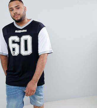 New Era NFL Raiders T-Shirt With Mesh Panel In Black