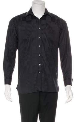 Burberry Check-Jacquard French Cuff Dress Shirt