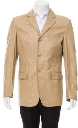 Dolce & Gabbana Notch-Lapel Leather Jacket