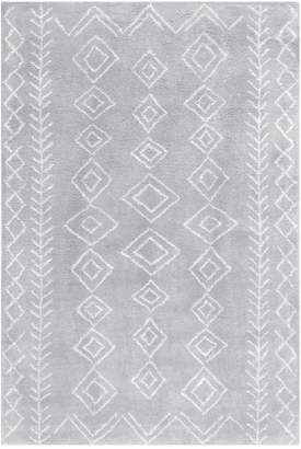 nuLoom Transitional Moroccan Lauren Wool Shag Rug - Gray