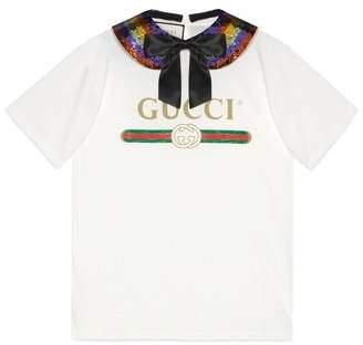Gucci (グッチ) - グッチ ロゴ コットン Tシャツ