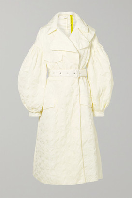 Simone Rocha Moncler Genius - 4 Dinah Belted Broderie Anglaise Shell Coat - Cream