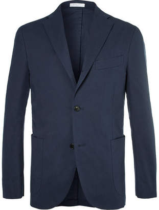 Boglioli Navy Stretch-Cotton Twill Suit Jacket - Men - Navy