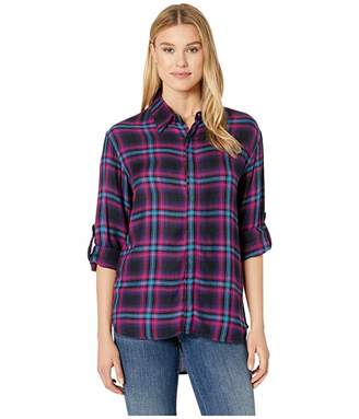 Rock and Roll Cowgirl Long Sleeve Plaid B4B9154