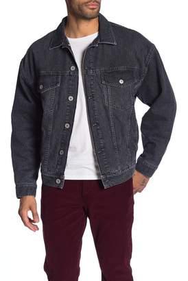 Hudson Jeans Denim Lined Trucker Jacket