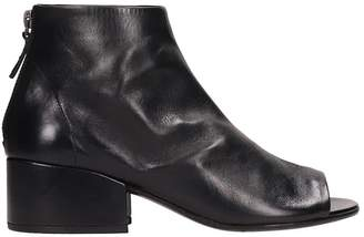 Marsèll Black Leather Cubeto Ankle Boots