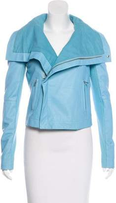 Veda Structured Leather Jacket