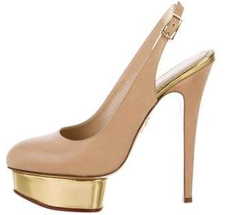 Charlotte Olympia Dolly Slingback Pumps