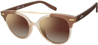 Libby Edelman Full Frame Round UV Protection Sunglasses-Womens