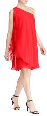 Lauren Ralph Lauren One-Shoulder Flounce Dress