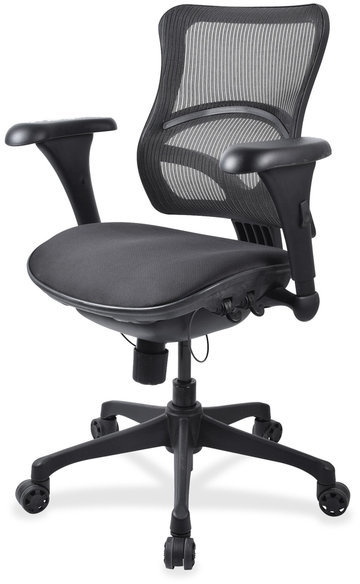 Lorell Mid-back Fabric Seat Chairs - (1/Each)
