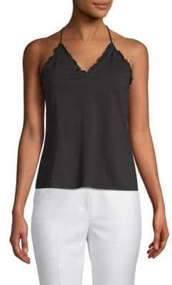Rebecca Taylor Sleeveless Vintage Cotton Jersey Top