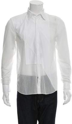 Givenchy Mesh Button-Up Shirt w/ Tags