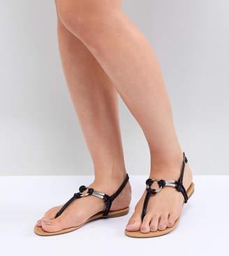 Park Lane Wide Fit Flat Sandals