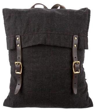Steven Alan Leather-Trimmed Woven Backpack