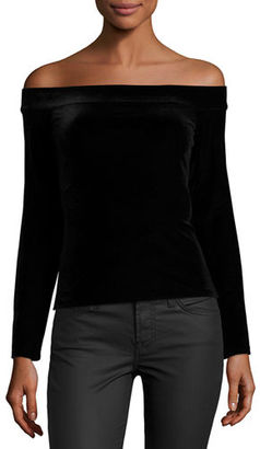 Bailey 44 Veronica Velvet Off-the-Shoulder Top $138 thestylecure.com