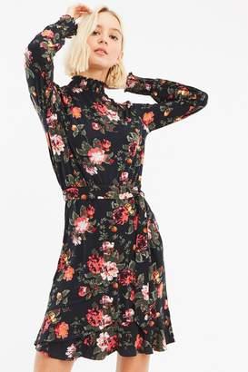 Next Womens Oasis Blue Winter Rose Sheered Dress