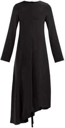 Tibi Tie Back Silk Dress - Womens - Black