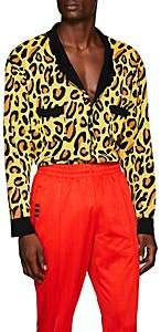 LANDLORD Men's Leopard-Print Cardigan - Yellow