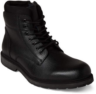 Kenneth Cole Reaction Black Drue Combat Boots