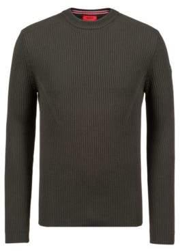 HUGO Boss Extra-slim-fit virgin-wool sweater military detail XXL Dark Green