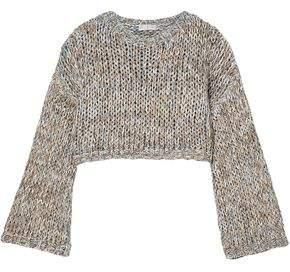 Brunello Cucinelli Cropped Open-Knit Sweater