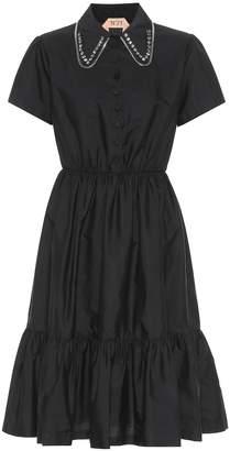 N°21 Crystal-embellished cotton dress