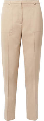 Akris Colin Cotton-blend Straight-leg Pants - Beige