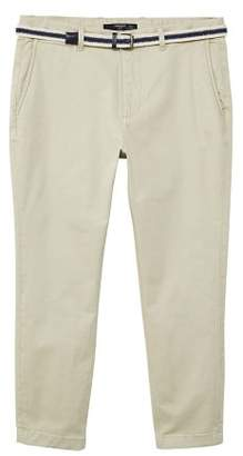Mango man MANGO MAN Belted cotton chinos