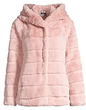 Apparis Women's Goldie Hooded Faux Fur Jacket