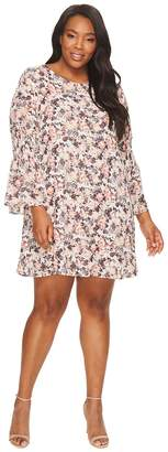 Bobeau B Collection by Plus Size Jude Flare Sleeve Dress Women's Dress